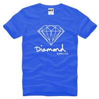 Wholesale New Summer Cotton Mens T Shirts Fashion Short sleeve Printed Diamond Supply Co Male Tops Tees Skate Brand Hip Hop Sport Clothes Tee Shirt