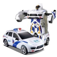 Wholesale 2016New x men remote control transformer a police car version of the robot model toys a birthday present
