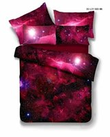 Wholesale Universe space nebula galaxy pattern twin duvet cover and fitted sheet sets XK