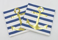 anchor paper - RainLoong Plys Beverage Paper Napkin Anchor Stripe Drink Tissue Serviettes DecoupTissue Napkin Serviettes Decoupage cm cm