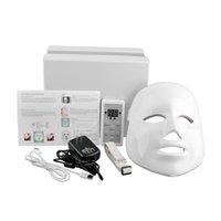 Wholesale White Color Photon LED Facial Mask Home Use Beauty Instrument Anti acne Skin Rejuvenation LED Photodynamic Beauty Face Mask