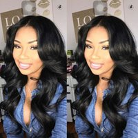 baby jet - Jet Black Middle Part Full Lace Human Hair Wigs For Black Women Brazilian Body Wave Lace Front Wigs Glueless With Baby Hair