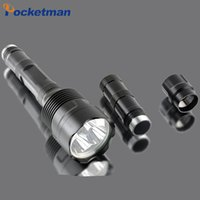 Wholesale 3800 Lumen CREE XML T6 LED Diving Flashlight Torch M Underwater Waterproof LED Flash Light