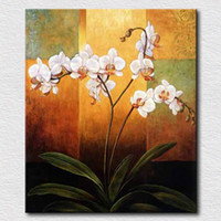best white spray paint - Handpainted Art Paintings White Flowers on Canvas for Home Decor Oil Painting Wall Pictures Pictures for Best Gift High Quality