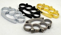 Wholesale 4PCS and colors Thin Skull Steel Brass knuckle dusters Safety Products KNUCKLE