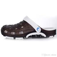 Wholesale Fashion Croc Brown PVC Crocodile Shoes Mens Adult Sandals keep shaping lose flop elevator Summer Spring Autumn Hole US Size Clogs