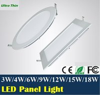 Wholesale 3W W W W W W W LED ceiling led downlight square round panel light bulb AC110V V Warm Cool white indoor lighting