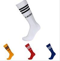Wholesale Football stockings absorbent towels bottom breathable slippery sport socks Children s football sock stripe over the knee sport socks