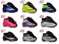 Wholesale 2016 new kids soccer shoes high top soccer boots botas de futbol superflys ag boys soccer cleats girls womens football shoes