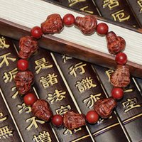 Wholesale Zhe products Ebony workshop The Indian lobular rosewood mammon hand string with a thriving business carved bracelet Men and women with Prote