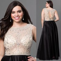 Rachel Allan 2016 Vestidos Plus Size Prom 2016 Black Ocasiões especiais Vestidos de noite Party Graduation Dress Beaded Top Formal Modest Wear