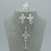 african wedding traditions - Silver Plated Ethiopian National Tradition Cross Sets Jewelry Ethiopia Cross Eritrea SILVER PLATED Habesha Jewellery