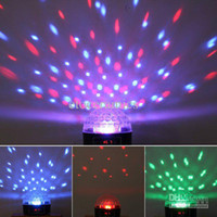 Wholesale Mini LED Stage Light RGB Crystal Magic Ball Effect light CH DMX Control Pannel Disco DJ Party Stage Lighting