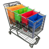 Wholesale Non woven Fabrics Shopping Trolley Bag Foldable Grocery Large Deep Trolley Lightweight Carry Easy Reusable Travel