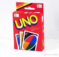 Wholesale UNO Playing Poker Cards Table Game Standard Edition Family Fun Entermainment Board Game Kids Funny Puzzle Game High Quality In Stock