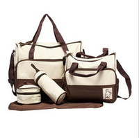 Wholesale 7 Colors Set New Fashion High Quality Tote Baby Products Shoulder Durable Diaper Bags Nappy Mummy Bags