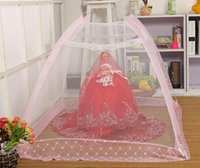 Wholesale Fashion Baby mosquito net mosquiteiro child nongrounded crib netting Free installation folding type portable mosquito net