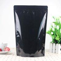 al packaging - 50pcs cm cm cm mic High Quality AL Foil Black Tea Plastic Packaging Stand Up Pouch