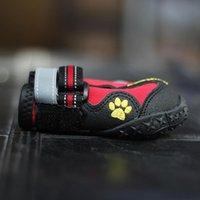 big labrador - 2016 Promotion Real Shoes Socks Black Red Fall winter Medium large Labrador Husky Waterproof Big Dog Boots Anti Skid Pet Shoes