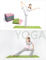 Wholesale DURABLE EXTRA THICK NON SLIP SWEAT ABSORBENT YOGA BLANKET CM X CM FASHION YOGA BLANKETS WITH COLORS