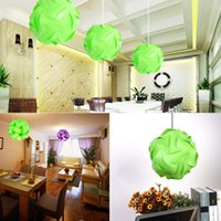 Wholesale 30pcs Elements IQ Puzzle DIY Creative Jigsaw Home Party Light Lamp Shade Lampshade Decoration Green