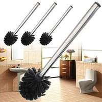 Wholesale Replacement Black Stainless Steel Toilet Cleaning Brush Strong Decontamination