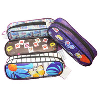 Wholesale Pencil Case Bags Set of Students Stationery School Supplies Bag With lovely Printing Designs Zippered Opener On Top Mouth of Box