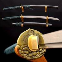 battle knife - 1095 Carbon Steel KO KATANA HANDMADE Samurai Japanese Sword Full Tang Sharp Blade Battle Ready Practice Metal Home Decor Knife