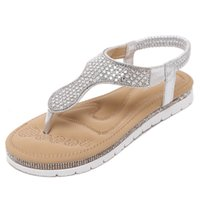 american ladies shoe sizes - New European and American fashion women sandals Ladies Crystal stylish and comfortable flat shoes Women large size shoes