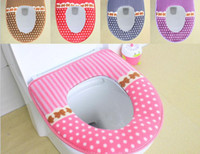 Wholesale Little toilet mat manufacturer with thick waterproof magic buckle ring warm sit lavatory toilet seat pad