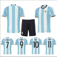 Wholesale Thai edition quality Argentina MESSI home jersey tshirt DIMARIA AGUERO Rugby football sports clothing