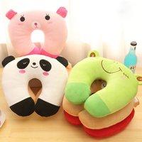 Wholesale U Pillow Cute Cartoon PP Cotton Nap Office Dual purpose Neck Pillow Gift Promotional Activities