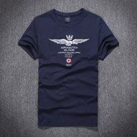 Wholesale 2016 High quality summer style men aeronautica militare Embroidery t shirt air force one mens tshirt Brand T Shirt