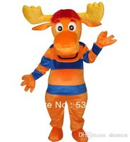 backyardigans music - Ohlees Actual Picture The Backyardigans Tyrone deer Mascot Costumes Character For Halloween Party Activity Fancy Christmas Adult Size