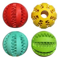 Wholesale 7cm Dog Toy Rubber Balls Pet Toys Ball Chew Toys Tooth Cleaning Balls Food Toy Ball for Dogs