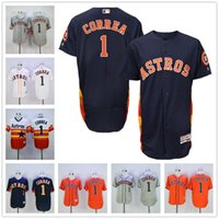 Wholesale Carlos Correa Jersey Flexbase Rainbow Orange White Grey Houston Astros Jerseys Cool Base