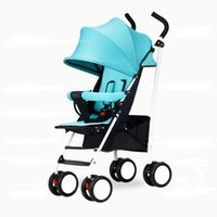 Wholesale Summer Infant Strollers Lightweight Portable Folding Baby Strollers Children Reclining Kids Umbrella Stroller Blue Red Hot pink