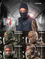 Wholesale Outdoor Camouflage Tactical Balaclava Masks Military Paintball Full Face Airsoft Headwear Quick Dry Motorcycle Skiing Cycling Beanies