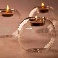 Wholesale Fashion Hot Classic Crystal Glass Candle Holder Wedding Bar Party Home Decor Candlestick