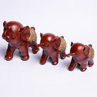 asia animals - Home Furnishing Creative Gifts Southeast Asia pattern crafts FengShui ornaments resin elephant