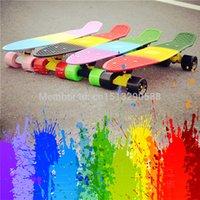 Wholesale Peny Board colorful Rainbow Skateboard Complete Retro Girl Boy Cruiser Mini Longboard complete Skate Fish Long Board skate wheel