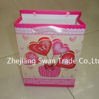 Cheap Love Themed Gift Paper Bags With Custom Logo Printed Perfect For Stores And Shops Environment Friendly Handled Shopping Paper Bags