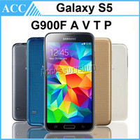 Wholesale Original Refurbished Samsung Galaxy S5 Unlocked i9600 G900F G900A G900V G900T G900P inch Quad Core GB RAM GB ROM WCDMA G LTE Phone