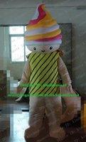 beautiful gelato - Beautiful Colorful Ice Cream Cone Gelato Ice crei Am Cone Ice crefeel Ice cremorning Mascot Costume Cartoon Character ZZ429 FS