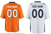 Wholesale Cheap Broncos customize high quality embroidery Rugby jerseys elite jerseys any name any number WOLFE ELWAY