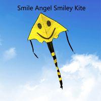 Wholesale Child Toy Kite Four Color Smile Angel Smiley Kite Smiley Sports Beach Kite