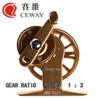 Wholesale Flying Reel HP Left Right CEWAY All Metal Fish Coil Fly Fishing Reel Tackle Equipment Variable Speed Ice Fishing Reel
