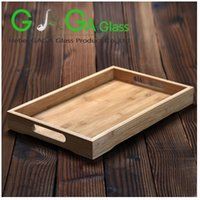 Wholesale 2016 bamboo serving tray breadfast tray with good price