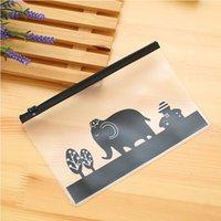 Wholesale Pieces Korea stationery lovely cute animals creative edge PVC envelope to receive bag translucent folder