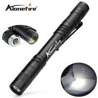 battery belt clip - AloneFire P50 CREE LED Mini Flashlight Belt Clip Pocket Torch Portable Flash Torch Lamps Use AAA battery flashlight